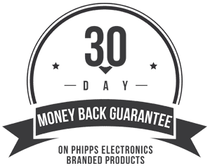 30 Day Money Back Guarantee on Phipps Electronics Branded Products