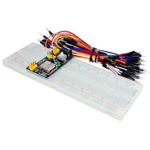 PHI1061833 – 830 Point Breadboard with Power Supply and 65pcs Jumper Cables – MB102 03