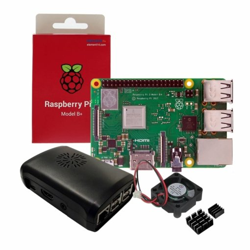 Raspberry Pi 3 Model B+ with Case, Cooling Fan and Heat sinks