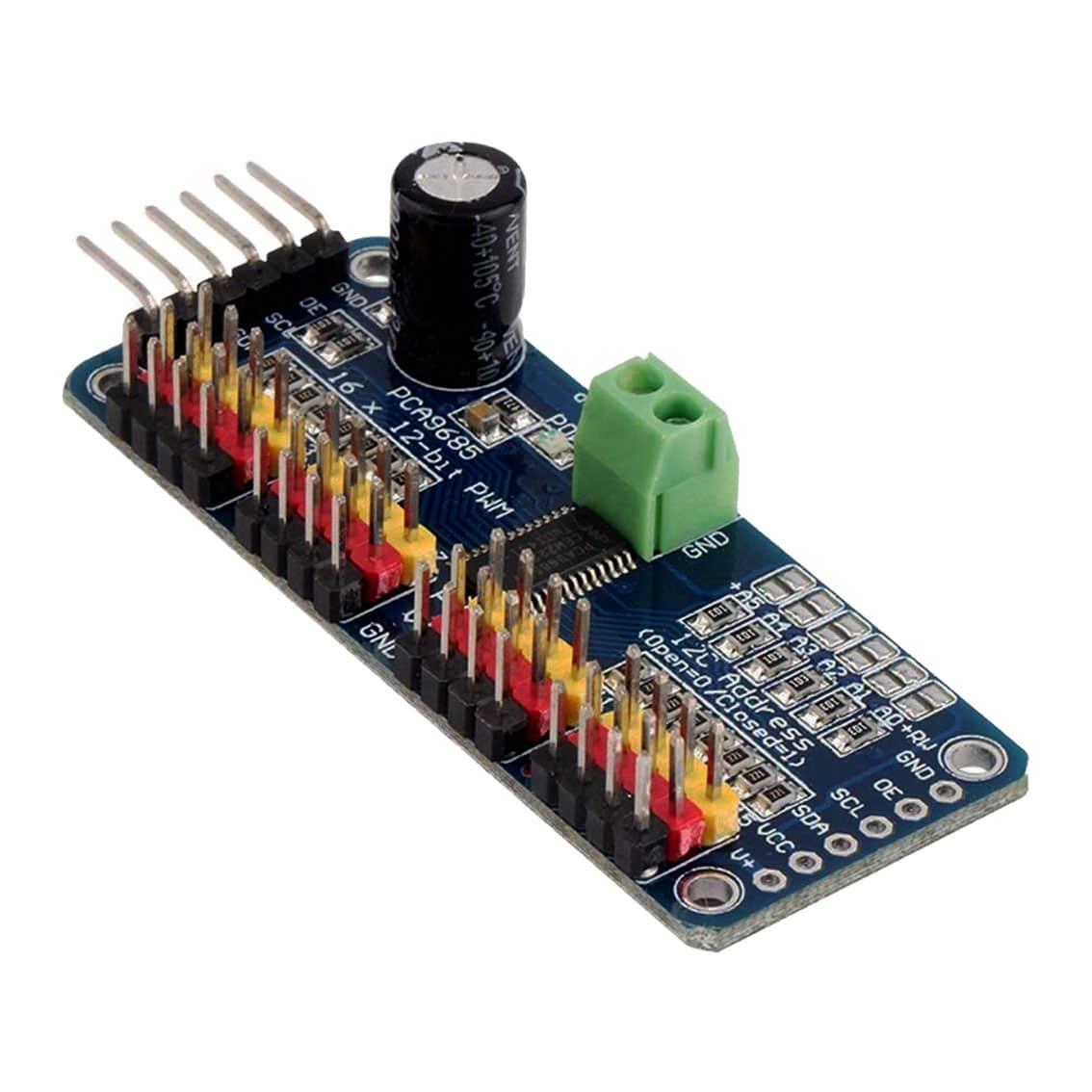 16-Channel 12-bit PWM Servo Driver with I2C Interface