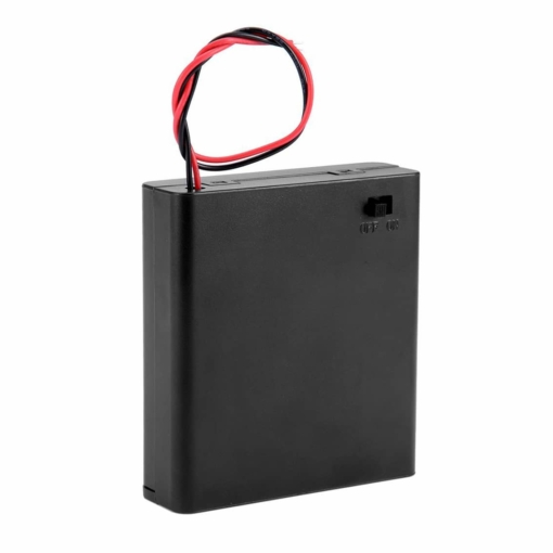 4 x AA Enclosed Battery Holder Box with On and Off Switch