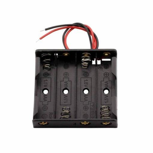 4 x AA Battery Holder Box