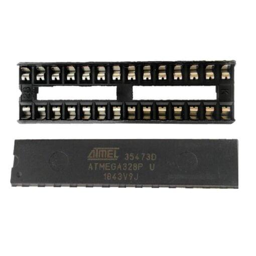ATMEGA328 MCU + 16MHZ Crystal + 22pF Capacitors + IC Socket Kit