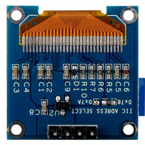 PHI1071983 – 0.96 Inch Yellow OLED Serial Display Module – 128 x 64 03