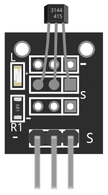 Figure 1: KY-003 Magnetic Hall Sensor