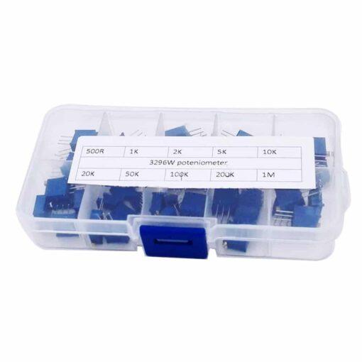 PHI1052126 – 3296W-1 Trimmer Potentiometer Pot Kit – Pack of 50 03