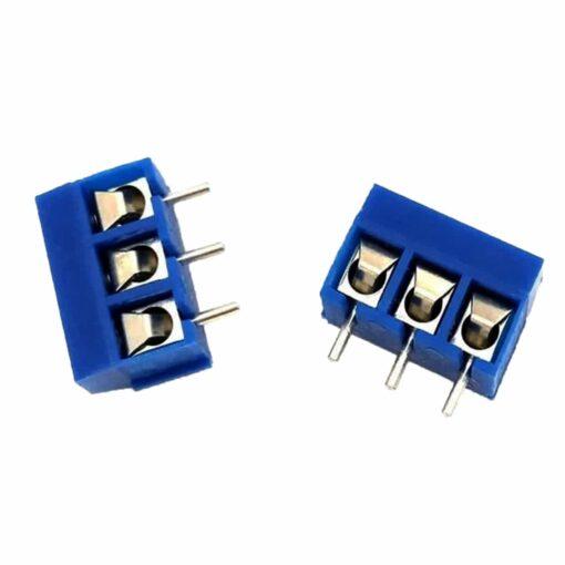 PHI1052157 – 3 Pin 5mm Terminal Block Screw Connector – Pack of 5 02