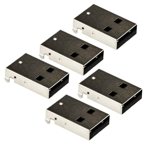 PHI1052161 – USB Type A Male Right Angle Connector – Pack of 5 02