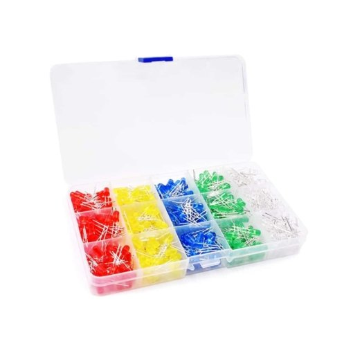 PHI1052182 – 500 Piece 5MM LED Diode Globe Kit with Case – 5 Colours 03